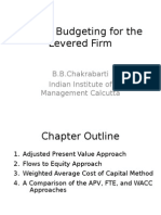 Capital Budgeting for the Levered Firm