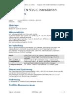 Installation Guidelines ATN 910B