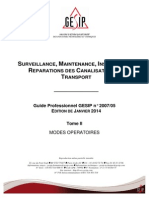 Surveillance, maintenance, inspection et réparations des canalisations de transport.Tome IIvier 2014