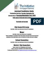 2015 Municipal Candidates Guide