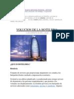 Evolucion de La Hoteleria