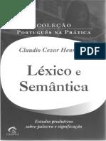 HENRIQUES 2011 - Léxico Em Foco