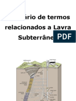 Termos Técnicos  de lavra Subterranea