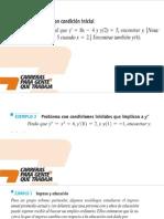 Aplicaciones en derivadas