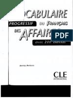 Vocabulaire Progressif Du Français Des Affaires