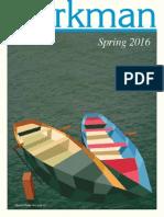Workman Spring 2016 Catalog