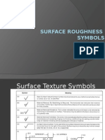 3 Surface Roughness Symbols