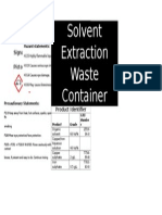 Solvent Extraction Waste1