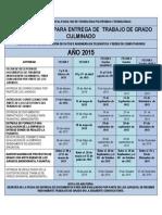 Cronograma de Actividades Trabajos de Grado 2015