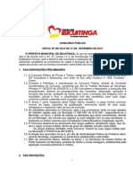 EDITAL - Concurso Público de Ibicuitinga