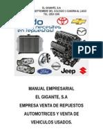 Manual EmpresManual Empresarial El Gigantearial El Gigante