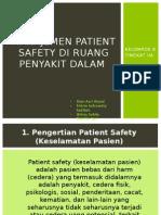 Manajemen Patient Safety Di Ruang Penyakit Dalam