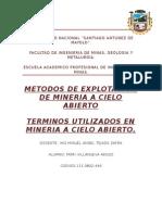 equipos de mineria a cielo abierto