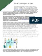 Ventajas Y Desventajas De Los Shampoos Sin Sales