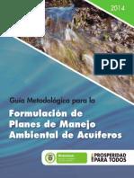 Guia Metodologica Para La Formulacion de Planes de Manejo Ambienta de Acuiferos