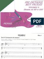 250 Dictados Musicales Vol 2 - 2 LOGSE [Fichas 169 a 250]