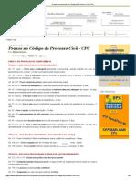 Prazos Processuais No Código de Processo Civil CPC