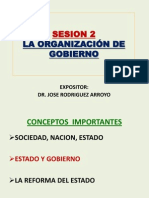 Sesion 2 Organización de Gobierno