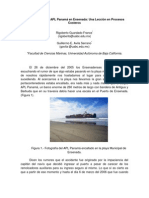 Encallamiento Del APL Panamá en Ensenada Una Lección en Procesos Costeros