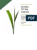 Acidity of Tea Leaves