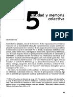 Identidad y Memoria Colectiva