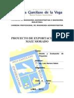 Proyecto Exportacion Maiz Morado