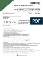 Fcc 2015 Trt 15 Regiao Analista Judiciario Tecnologia Da Informacao Prova