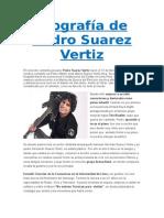 Biografía de Pedro Suarez Vertiz
