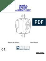 Manual untilizare convertizor de frecventa Epower MM de la MAC3 (variator de turatie) inverter