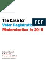 Case for Voter Registration Modernization 2015