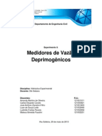 3º Relatório Pronto - Medição de Vazão Deprimogênicos
