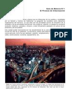 Geografia, el proceso de Urbanizacion