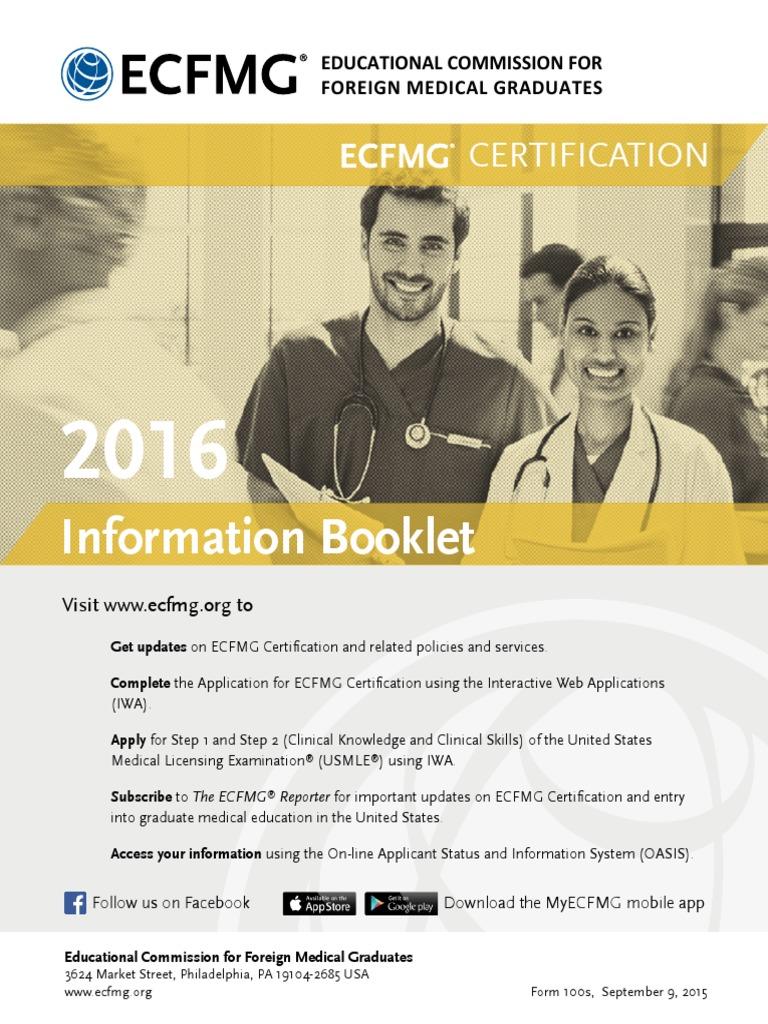 Ecfmg United States Medical Licensing Examination Professional