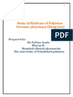 Def of Forensic Pharmacy by Fatima