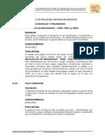 Especificaciones Tecnicas Del Sistema de Desague