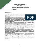 Proyecto Anual 2014 Laboratorio de Metrología