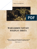Warhammer Fantasy Roleplay 2nd Edition Errata