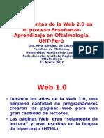 Herramientas Web 2.0 en E-A en Oftalmología
