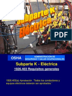 Subparte K Electricidad