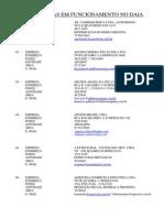 Lista de Empresas - Daia