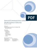 Internal Communication Within the Health Sciences Libraries