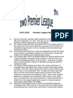 premier league rules