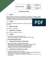SEC-FT-09 Informe Preliminar de de Auditoria Rv DR SC