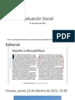 Evaluación Social de Proyectos