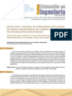 Detección y control de atmósferas explosivas en minas subterráneas de carbón usando programación estructurada