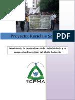 Proyecto Reciclaje Solidario PDF