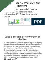 Ciclo de conversión de efectivo