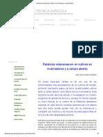 Ralstonia Solanacearum Cultivos en Invernaderos y Campo Abierto