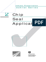 Checklist Chip Seal