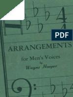 Arrangements for men's voice n°1